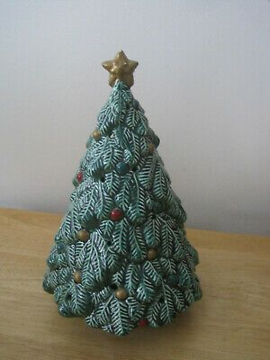 CERAMIC CHRISTMAS TREE POTPOURRI HOLDER SMALL HOLES TO LET SCENT OUT ebay link