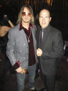 Greg in Dallas, with Phoenix Benjamin, Grammy award winning artist