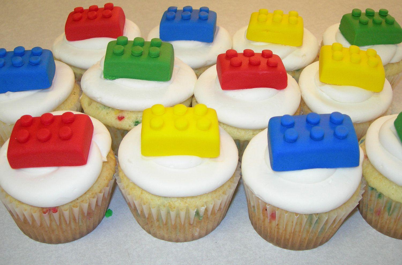 Lego Block Cupcake/Cookie Toppers - 1 Dozen.