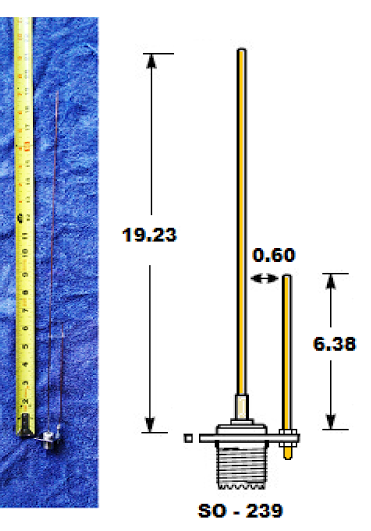 Kn9B - 2M  70 Cm J-Pole  Antena  Ham Radio Antenna, Ham -6623