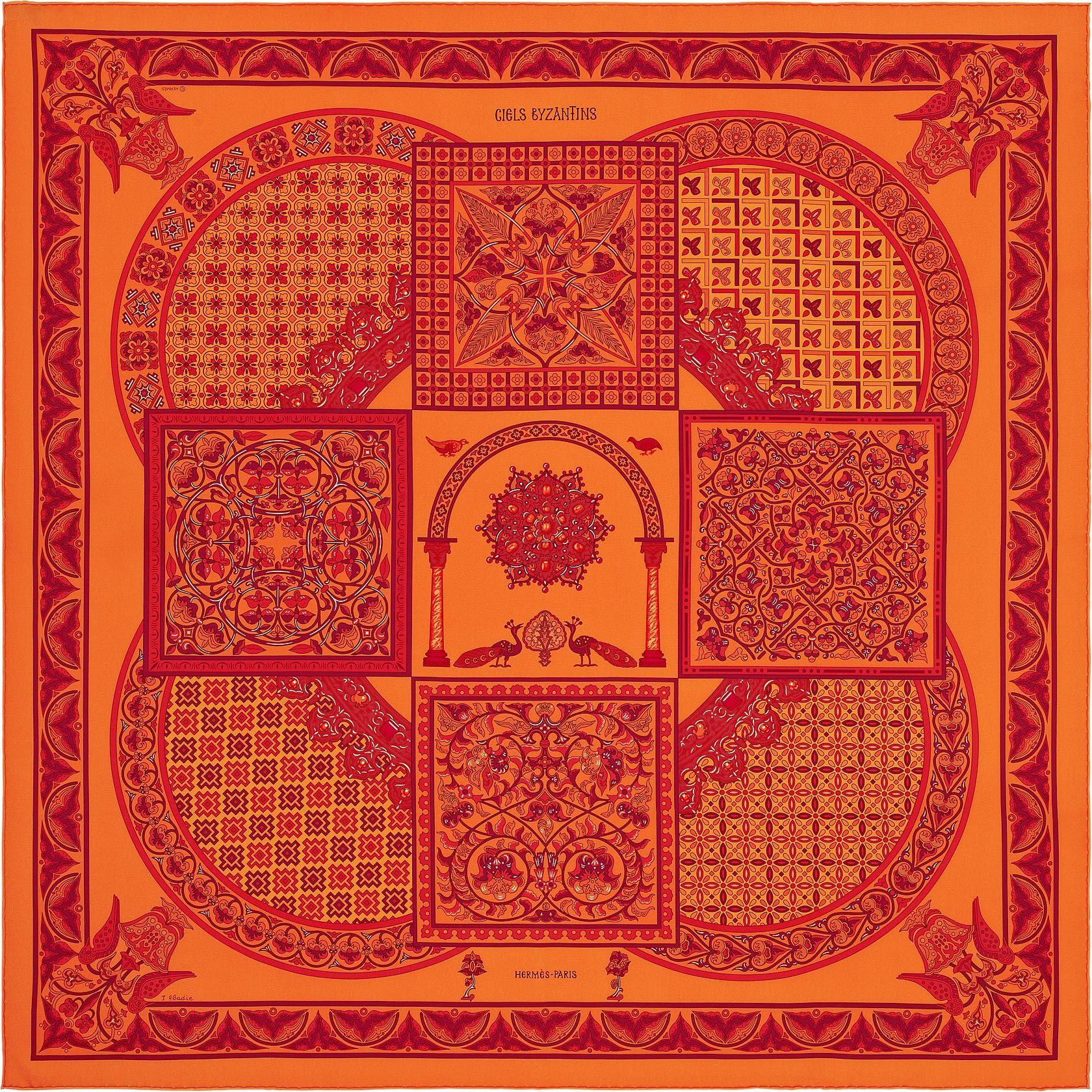 86ef0384fc46 Scarf 90 Hermès   Ciels Byzantins   Scarves   Hermes, Silk, Silk scarves