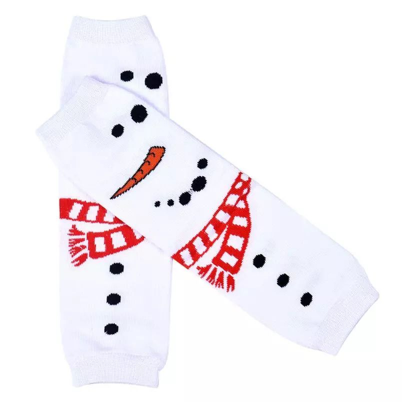 Cute Christmas Decorations Leg Warmers for Girls Natal Calentadores Piernas Ninias #2986