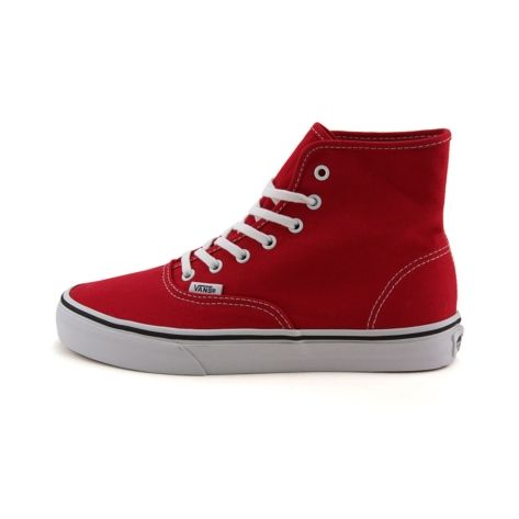 Shop for Vans Authentic Hi Skate Shoe in Red White at Journeys ...