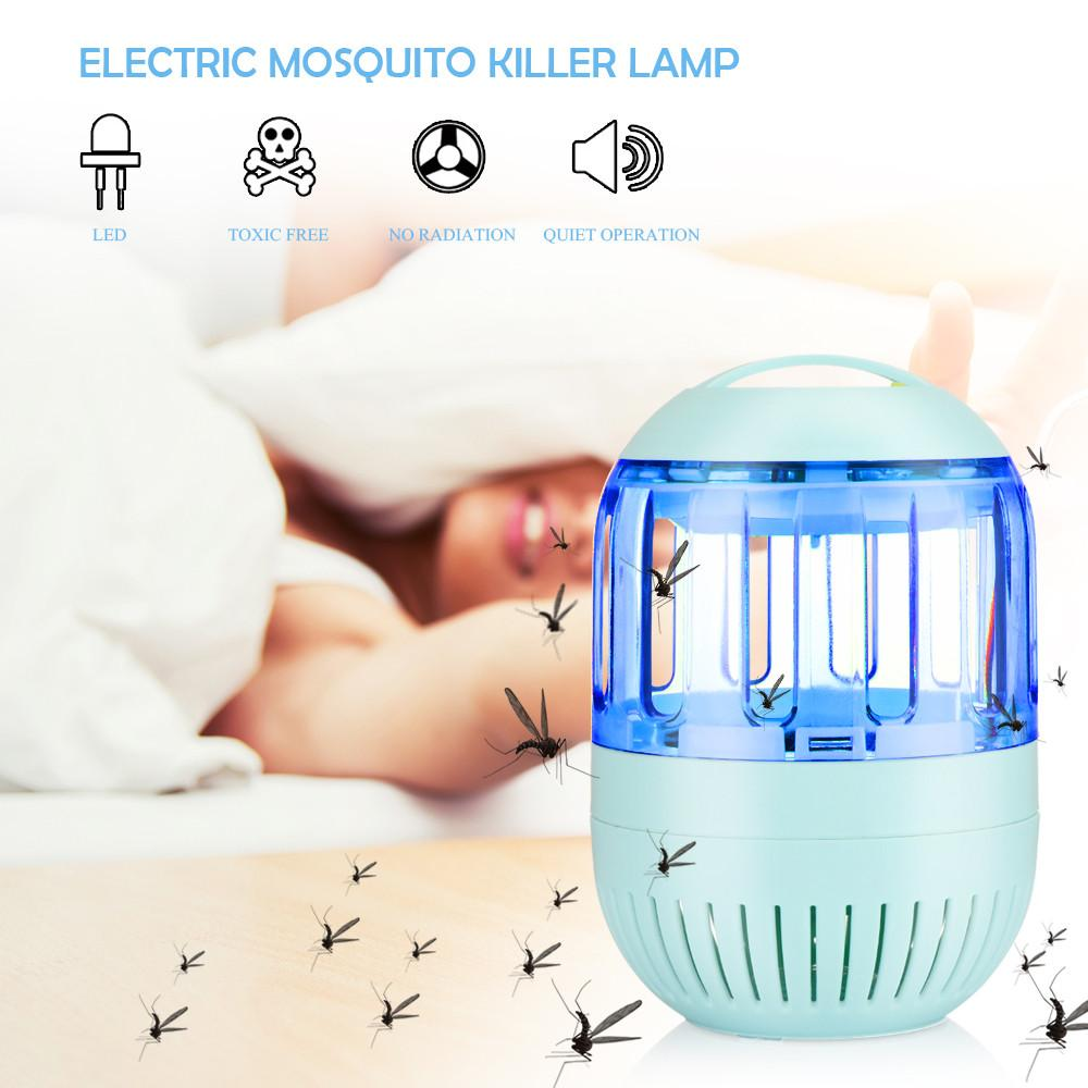 """1*Electric Mosquito Killer Lamp 1*Package Box   Specifications: Type: Electric Mosquito Killer Lamp Material: PVC  Quantity: 1pc Shell Color: Blue LED Color: Blue LED Quantity: 6 Use Range: Max. 20-50 sqm Input: DC 5V Light Mode: ON / OFF (no power switch) Power Cable Length: Approx. 1.4m / 4.6ft Size: 11*18cm/4.3*7.1""""(D*H) Net Weight: 0.27kg/9.5oz"""