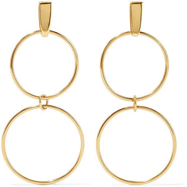 Natasha Schweitzer Loop Gold-plated Earrings Rz04U