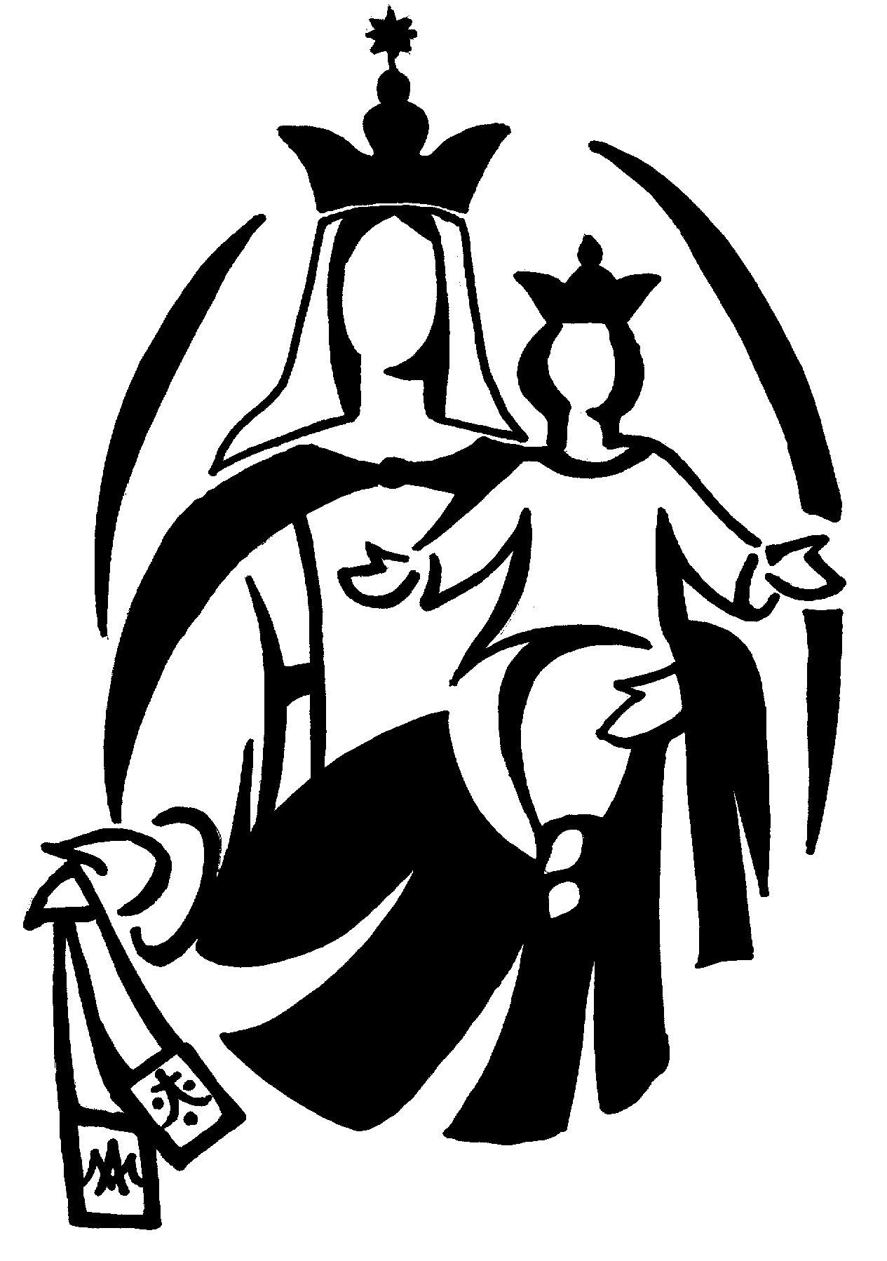 Virgen Y Blanco Maria Negro