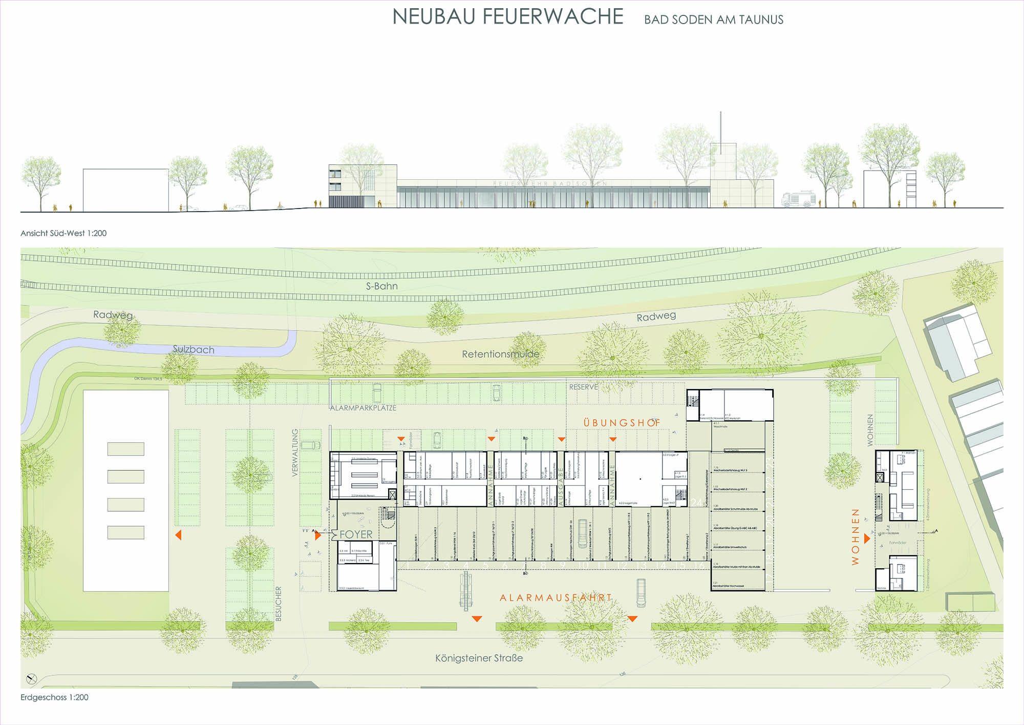 Neubau Feuerwache Bad Soden am Taunus 1. Preis