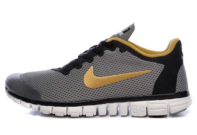 best service 90a4e be439 Nike Free 3.0 V2 Grey Black Logo Running Shoes  Grey  Womens  Sneakers