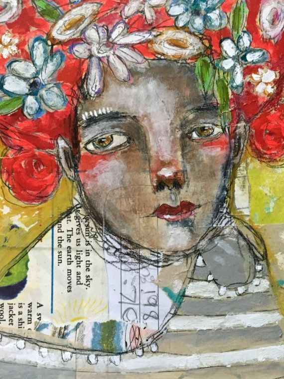 Pin by Jonessa Farano on collage artwork | Mixed media painting