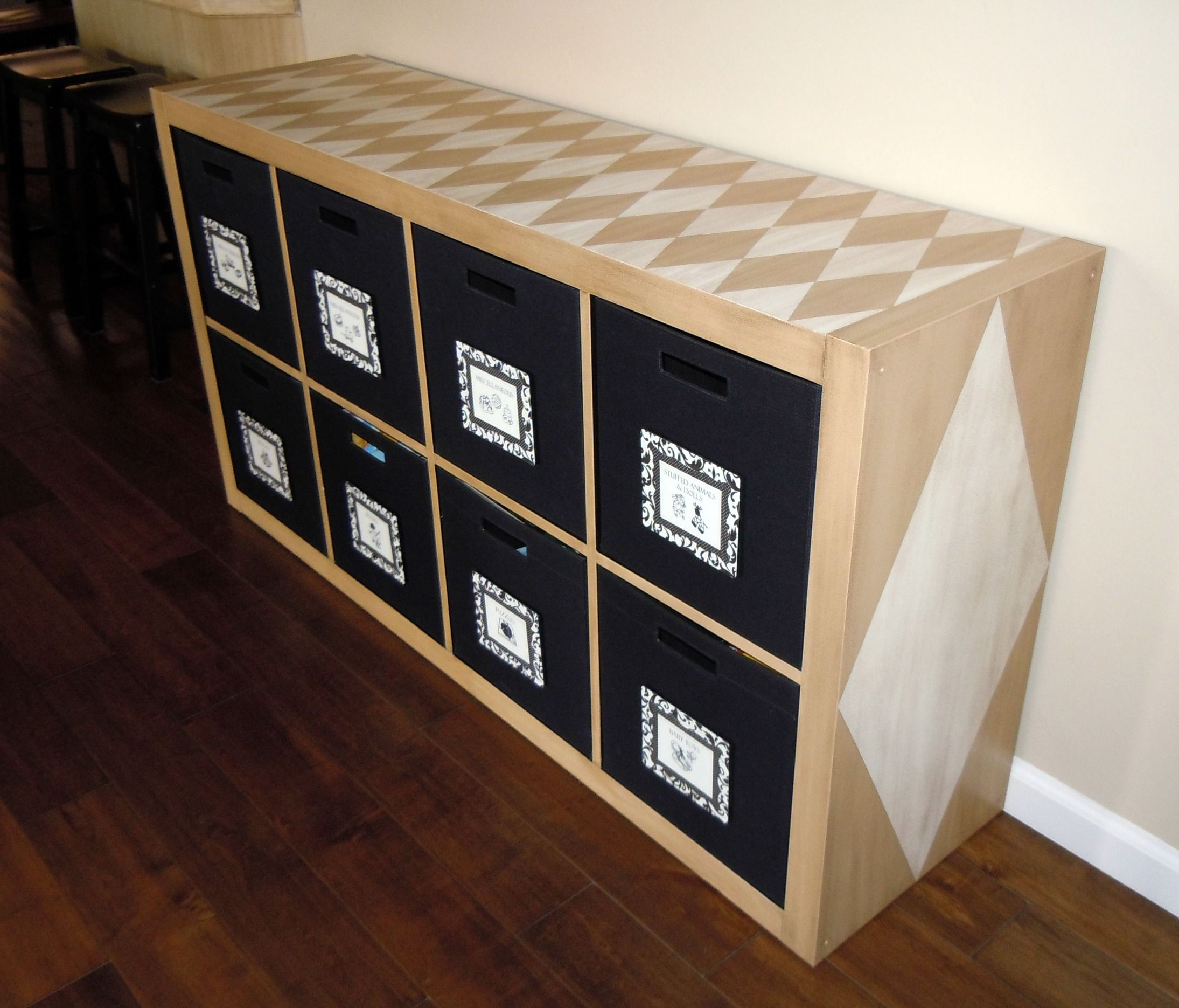 Ikea Expedit Shelving Unit With Target Itso Fabric Bins