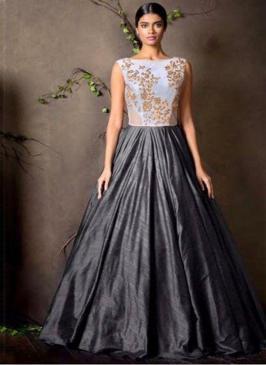3f1387e5afa fastkharidi new fancy grey white colour gown