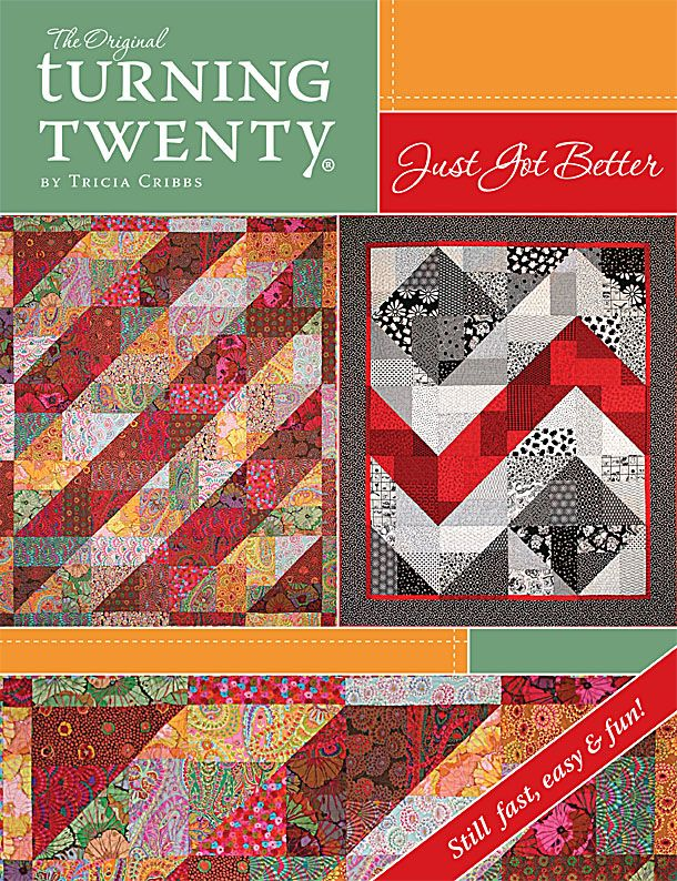 With only 20 fat quarters you can make any one of these SUPER SIMPLE