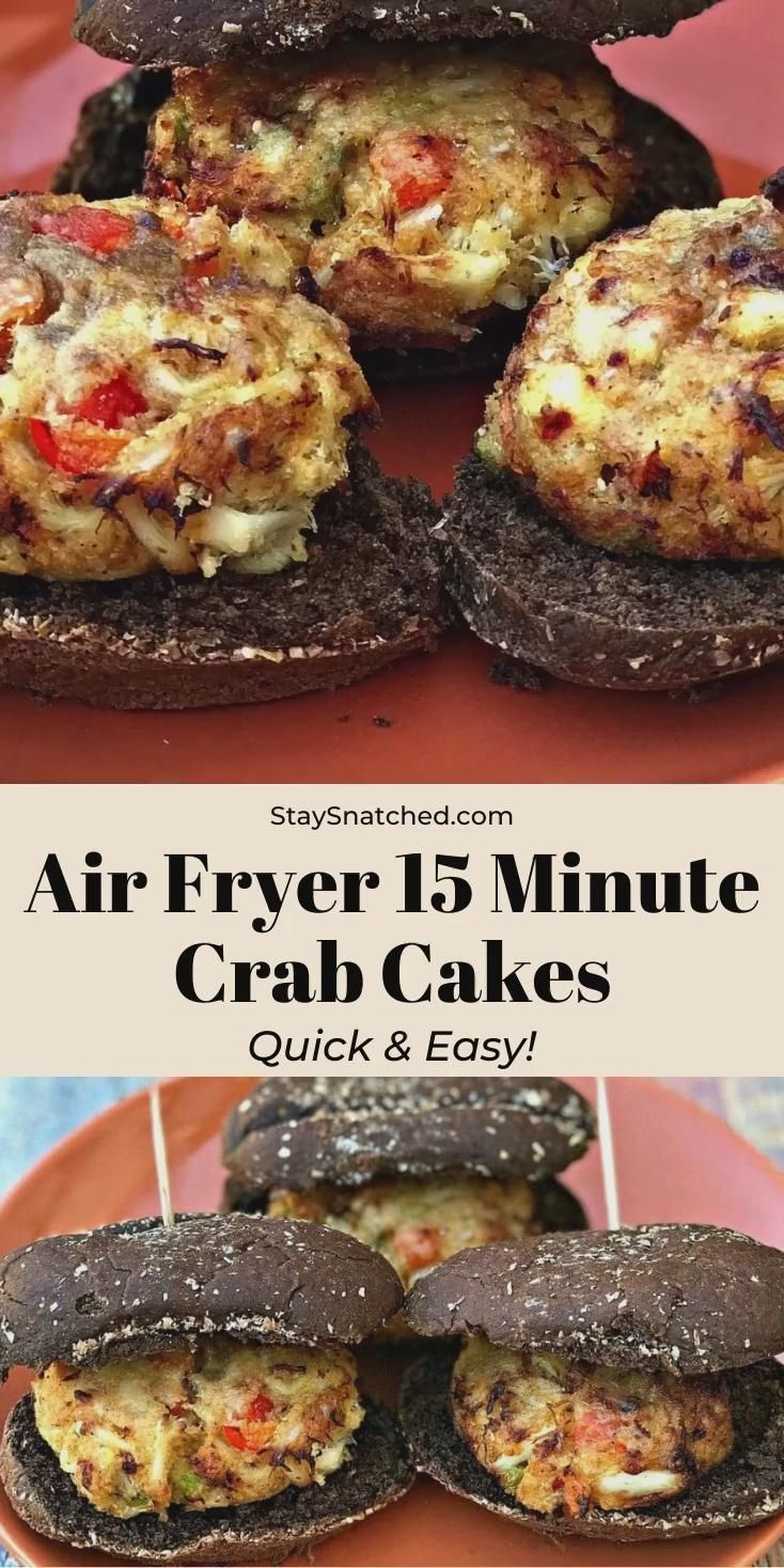 These Easy Air Fryer Fifteen Minute Crab Cakes Are So