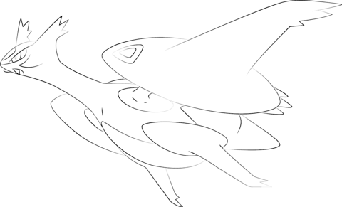 Mega Latios Pokemon Coloring Page Pokemon Coloring