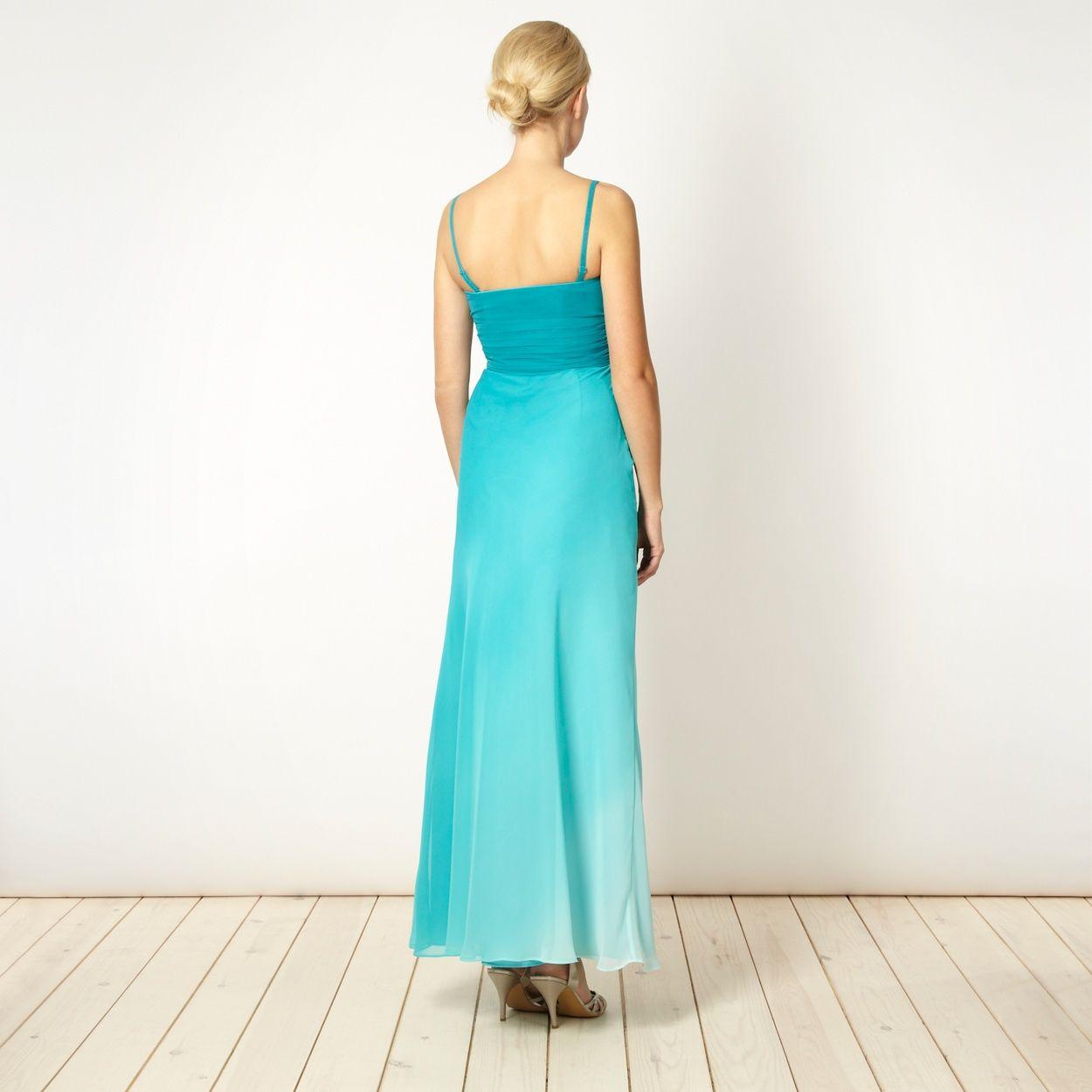 Debut Aqua graduated bandeau maxi dress- at Debenhams.com | Photo ...