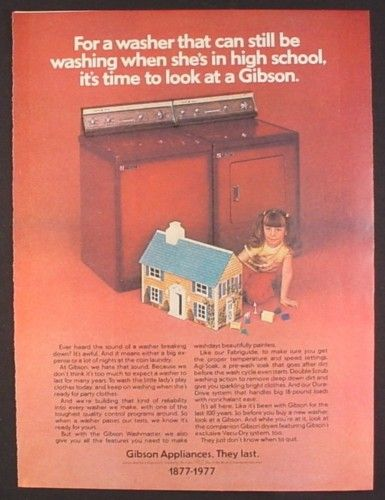 1970's dollhouse ad | Magazine Ad for Gibson Appliances, Girl with Tin Litho Dollhouse, 1977 ...