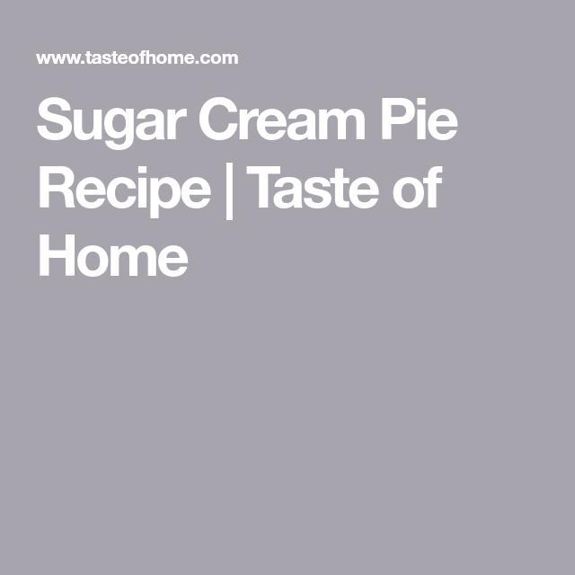 Sugar Cream Pie #sugarcreampie