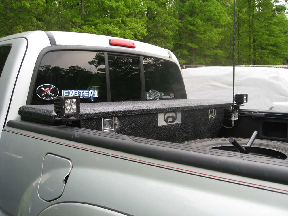 Bed light bar with toolbox? Bed lights, world