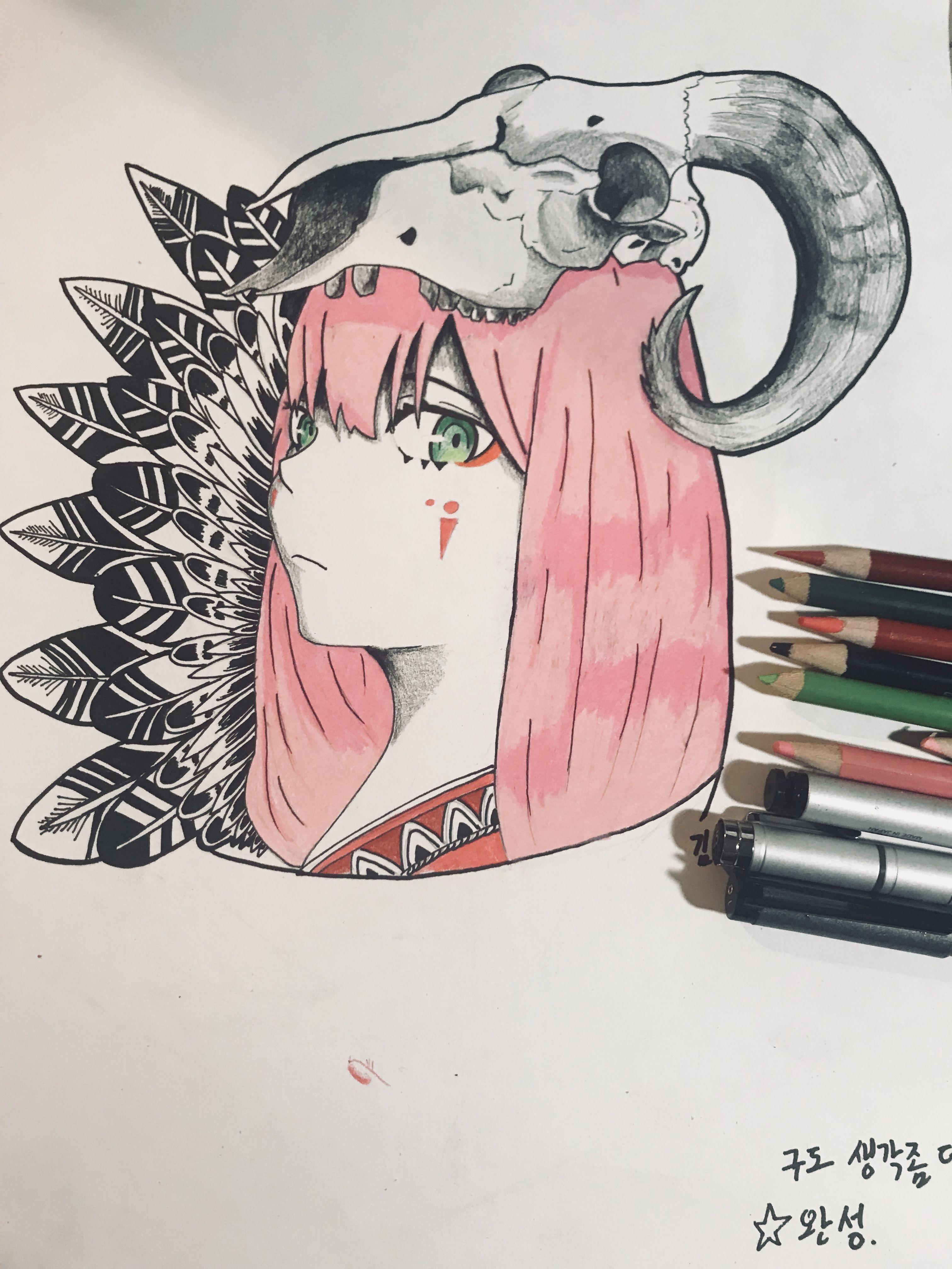 Zero two tattoo Art, Graphic