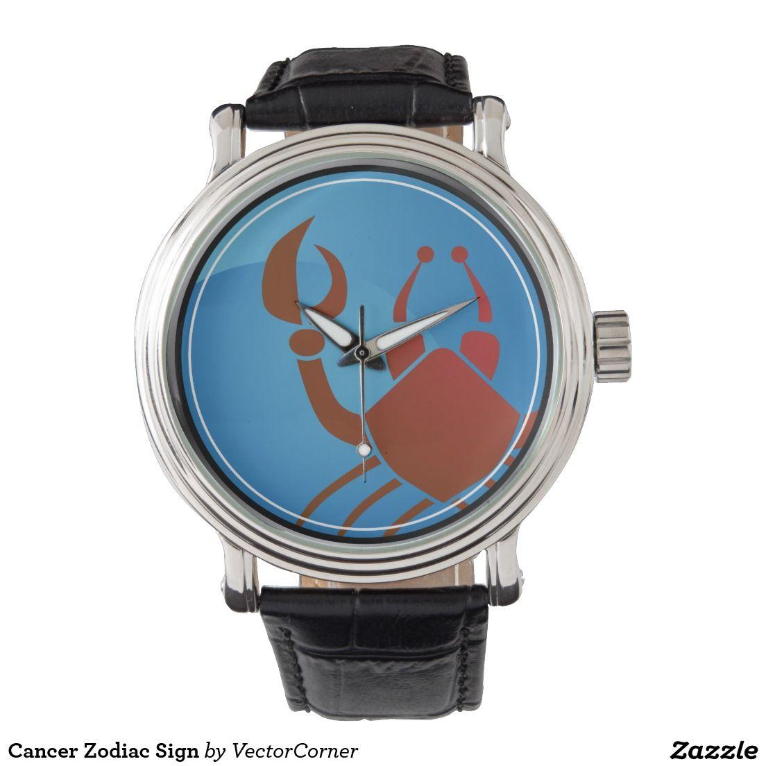 Cancer Zodiac Sign Wrist Watch