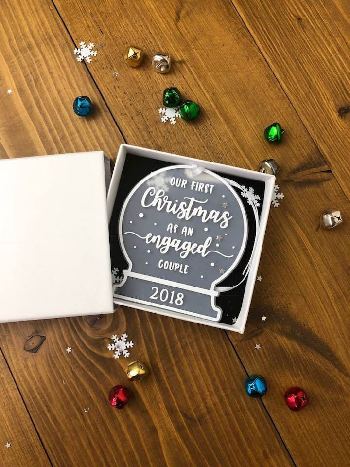 Personalised Engagement gift • Our First Christmas as an ...