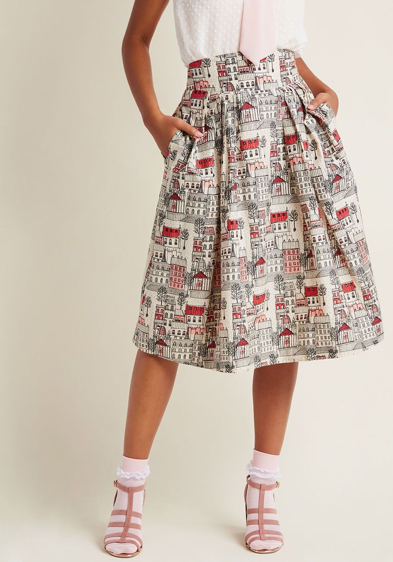 Emily and Fin Far Out and Fabulous Midi Skirt in Village in