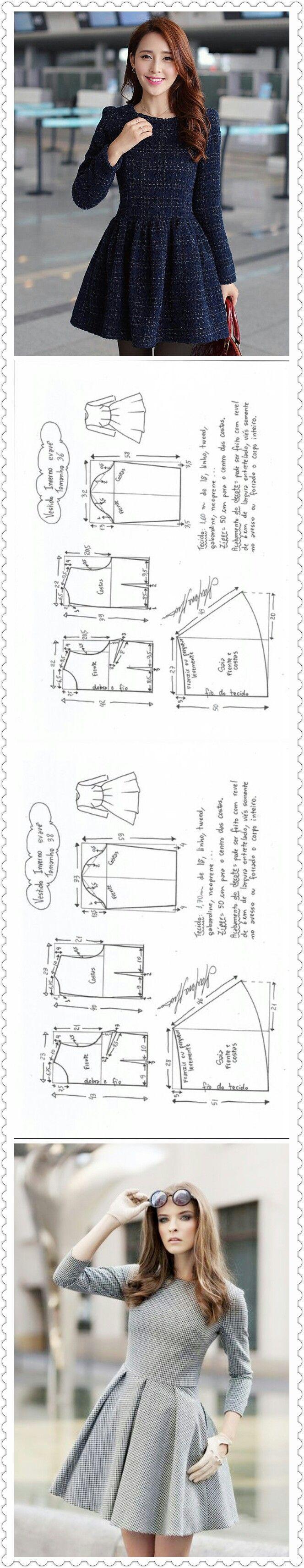 Korean dress | sewing | Pinterest | Costura, Vestidos y Ropa