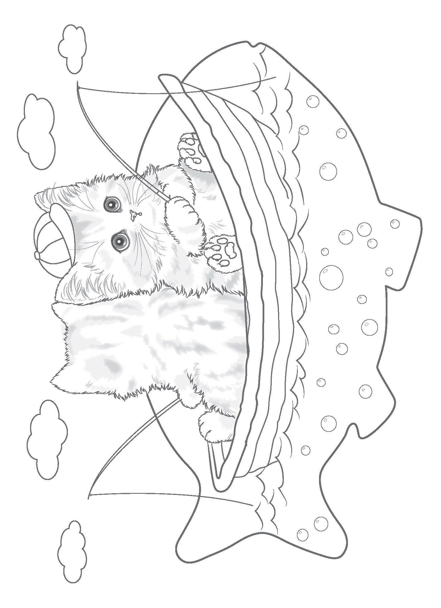 Teacup Kittens Coloring Book Colouring Books Amazon De Kayomi Harai Fremdsprachige Bucher Kitten Coloring Book Cute Coloring Pages Cat Coloring Book
