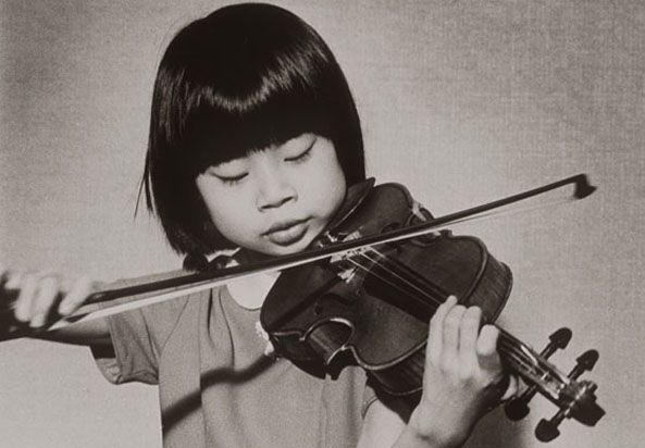Midori Goto , Age 5/ Japanese violinist