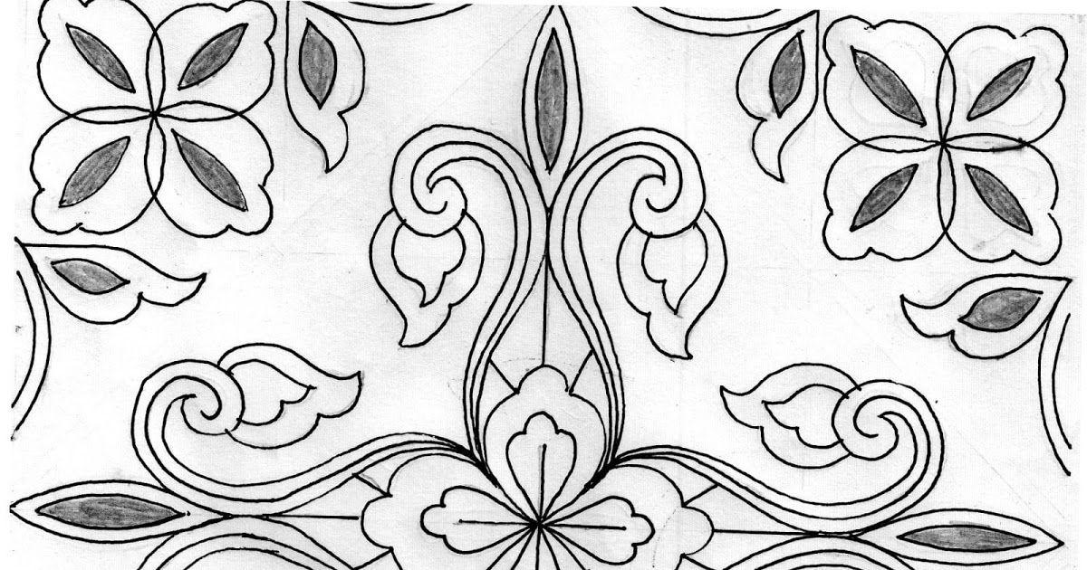 Wow 27 Lukisan Bunga Hitam Putih 22 Ragam Seni Motif Batik Bunga