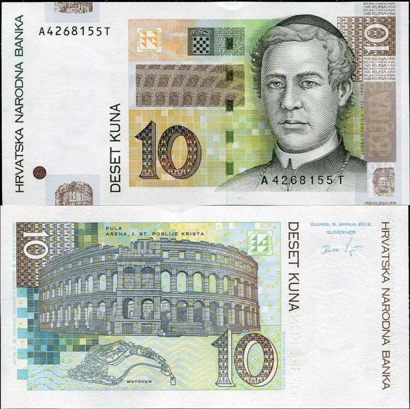 Banknote Hrvatska Croatian Kuna Money 10 Kn Hrk Gem Unc
