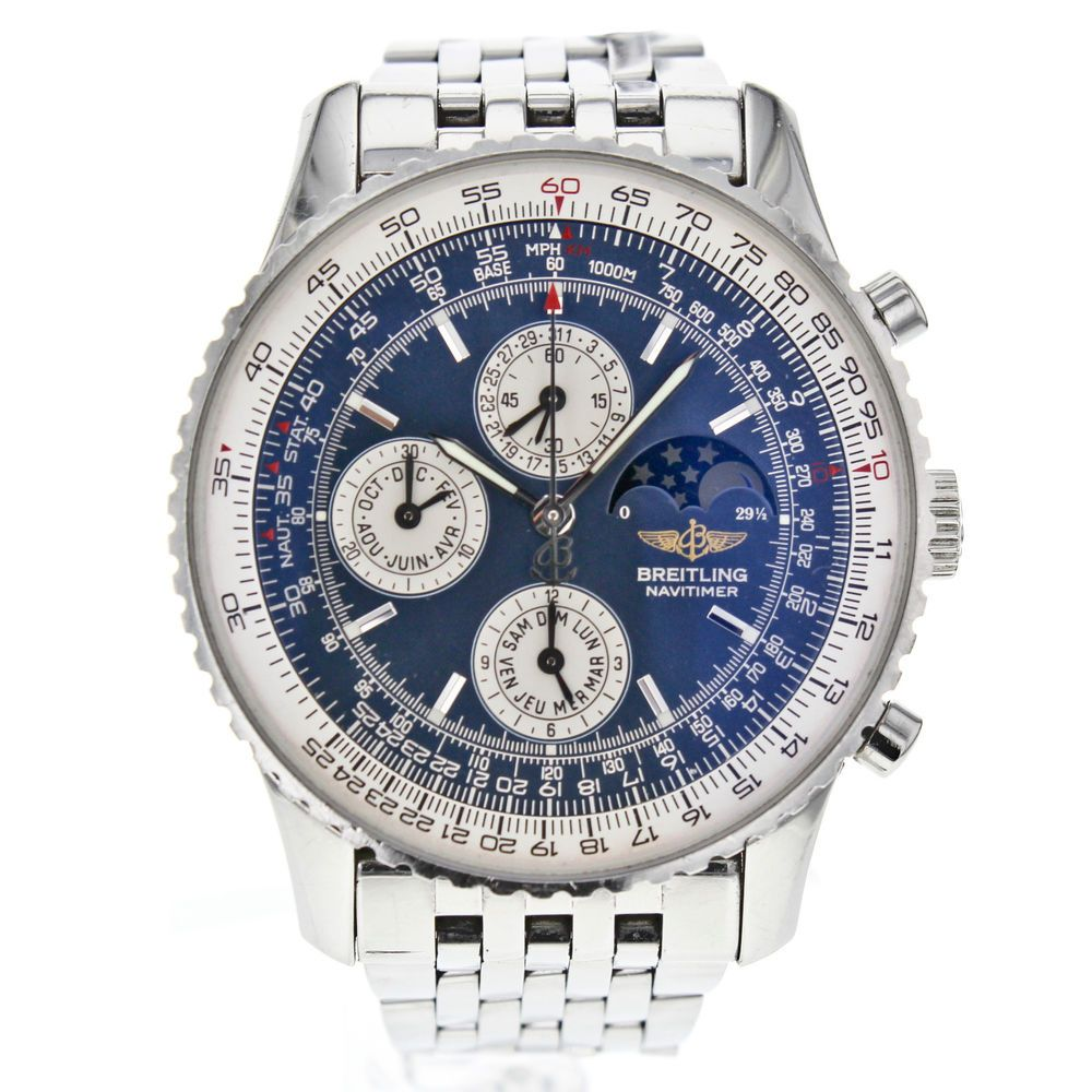 breitling navitimer olympus a19340 chronograph moon phase