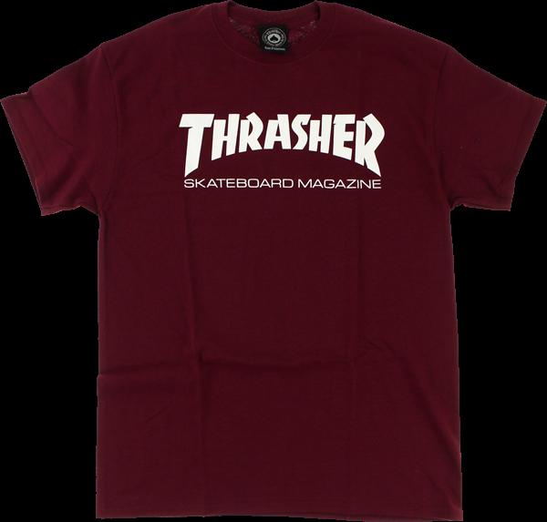 Thrasher Skate Mag Ss M-Maroon/Wht