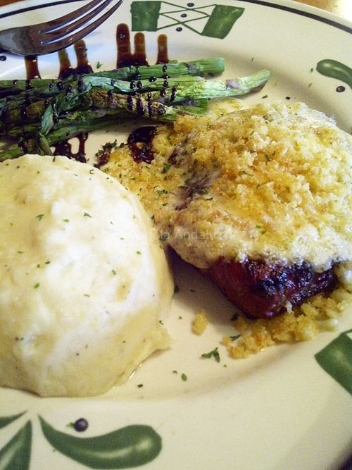 Parmesan Crusted Steak Olive Garden Italian Restaurant Food Pinterest Parmesan Crusted