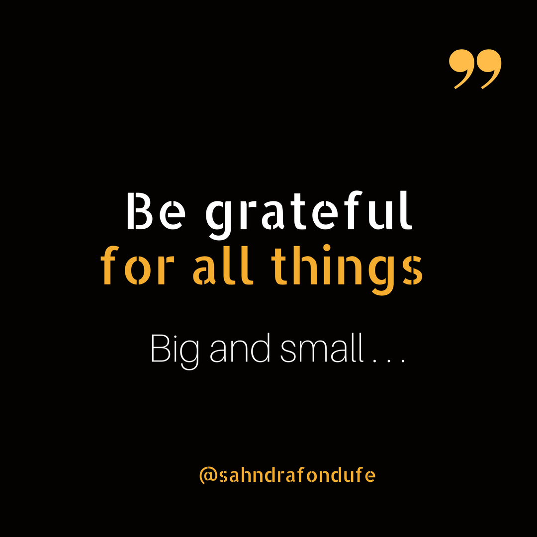 Small Life Quote Be Grateful For All Things Big And Smallgratitide Is Important
