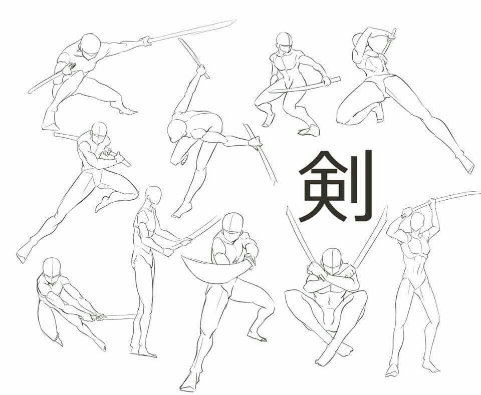 Sword Fight How To Draw Fighting Drawing Art Reference Drawings