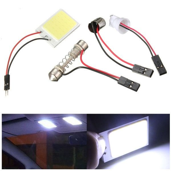 12v mazorca de 2.424 fichas LED panel ligero festón t10 bulbo de la lámpara interior del coche