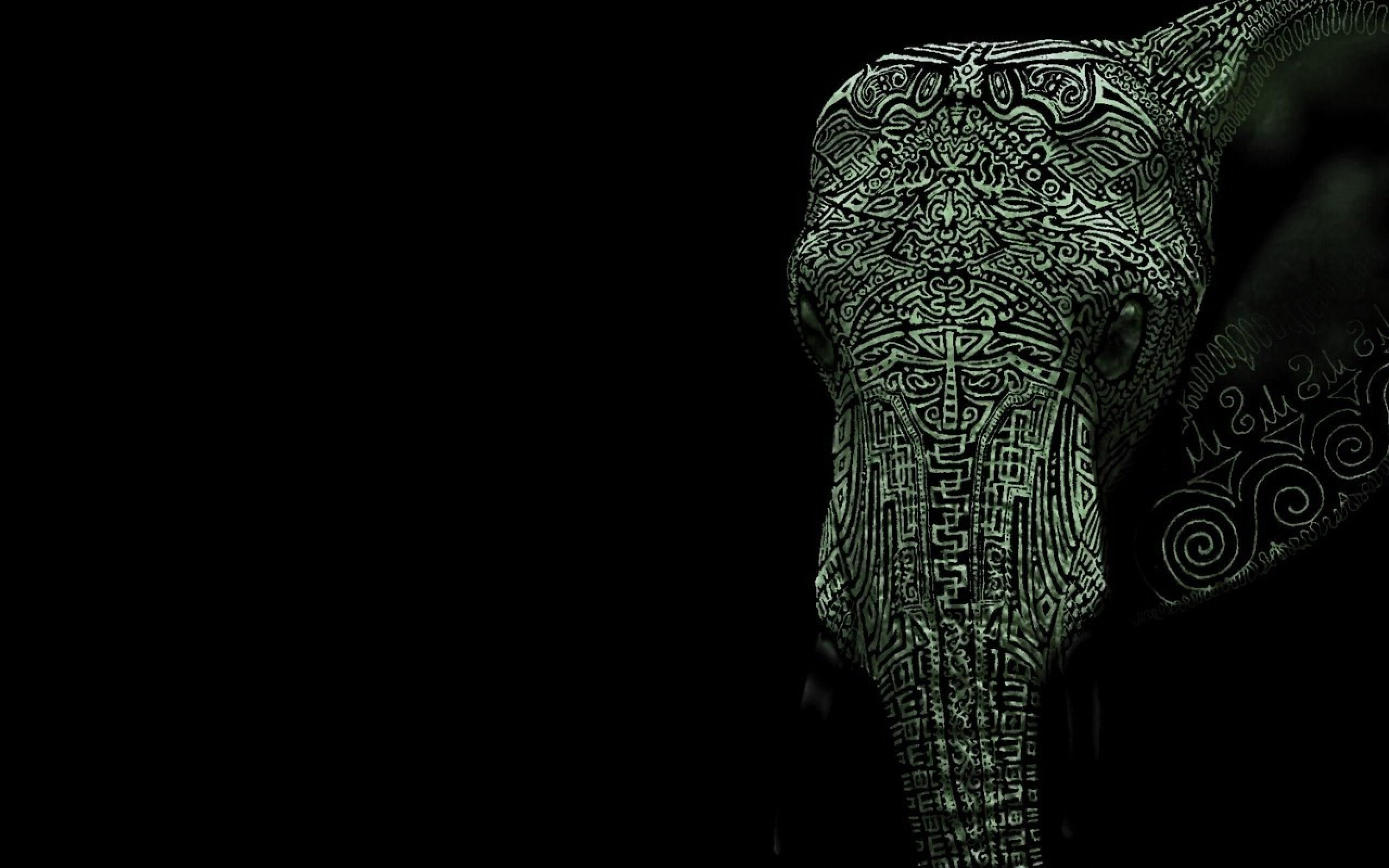 Tribal Elephant Wallpaper Tumblr Tattooed elephant