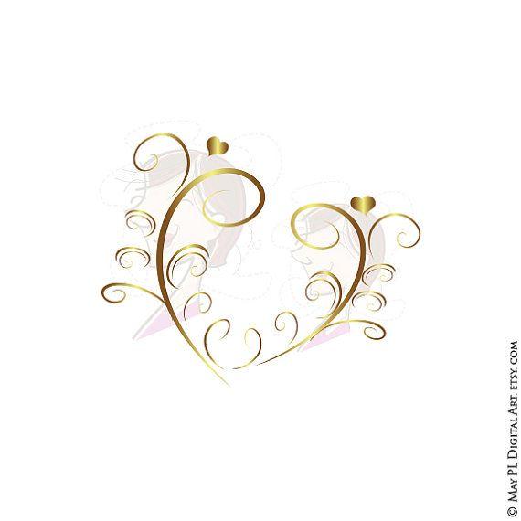 GOLD Retro Swirl Page Border Decoration Elegant Curly Flourishes ...