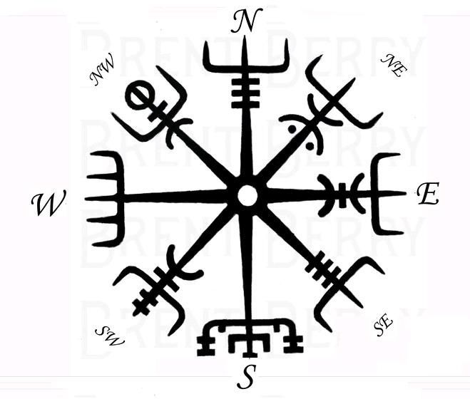 viking 39 s compass vegvisir tattoos pinterest wikinger. Black Bedroom Furniture Sets. Home Design Ideas