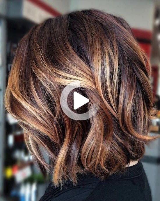 Balayage caramel sur cheveux courts en 2020 | Cheveux bruns, Couleur de cheveux brune, Couleur ...