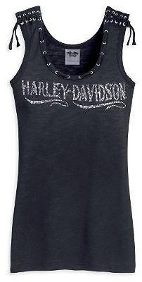 Harley Davidson Womens Rhinestone Laced Tank Top Shirt NEW  d7e243d581