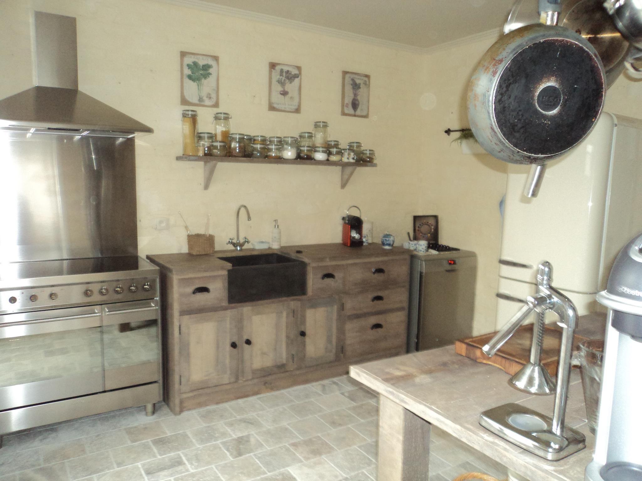 Keuken blok in oud steigerhout made by www.anders leven.be ...