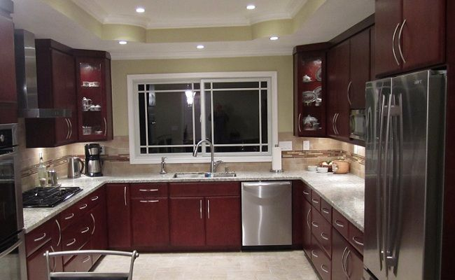 Location San Francisco Cabinets Dynasty By Omega Door Style Pillow Wood Veneer Door Wood Cherry Fini Traditional Cabinets Kitchen Cabinetry Cabinetry
