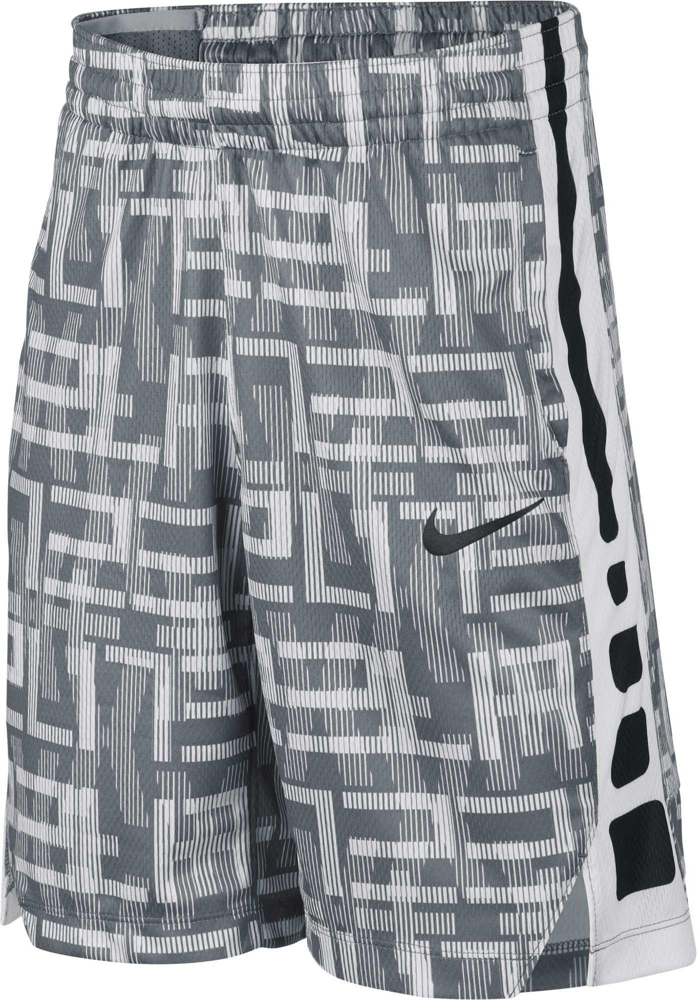 Nike KD Elite Basketball Mens Shorts L White Black Paisley Casual Gym New