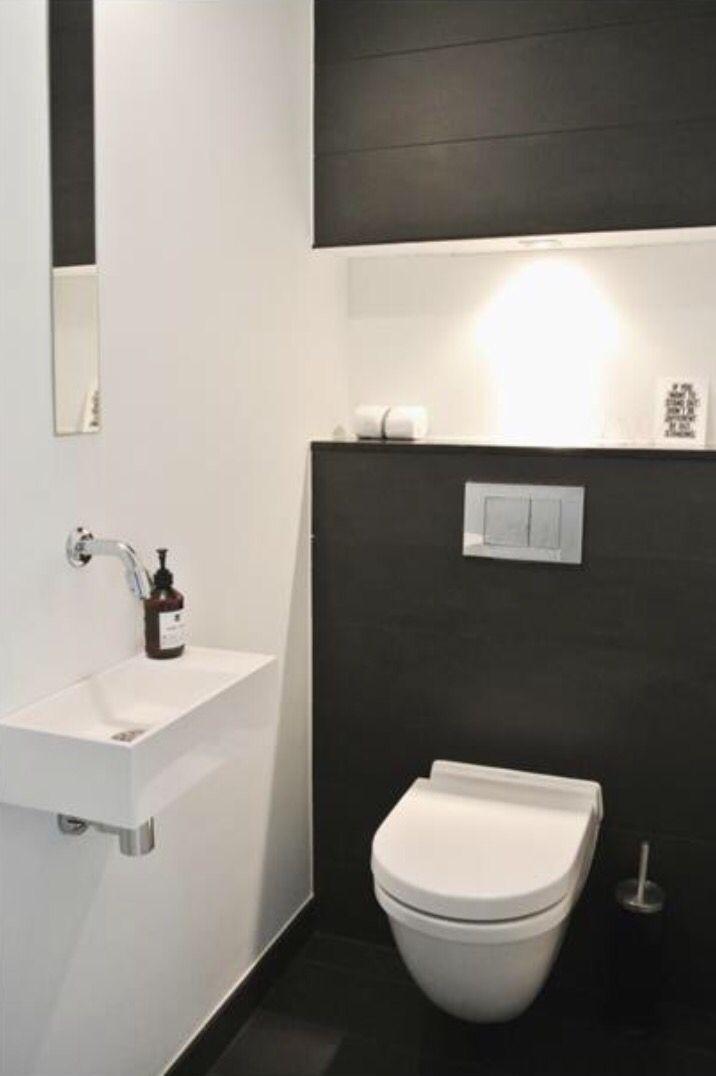 Zwart wit toilet badkamer pinterest nordlys badev relser og boligindretning - Amenager badkamer ...