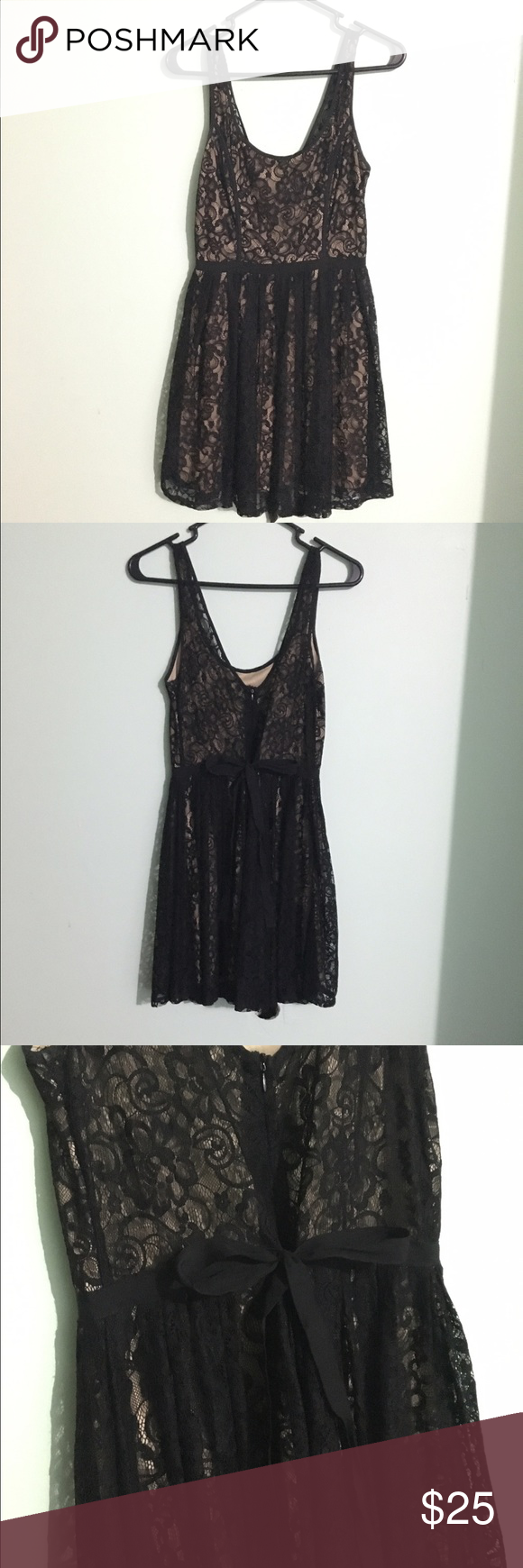 Kali black and nude lace dress in perfect condition fully lined
