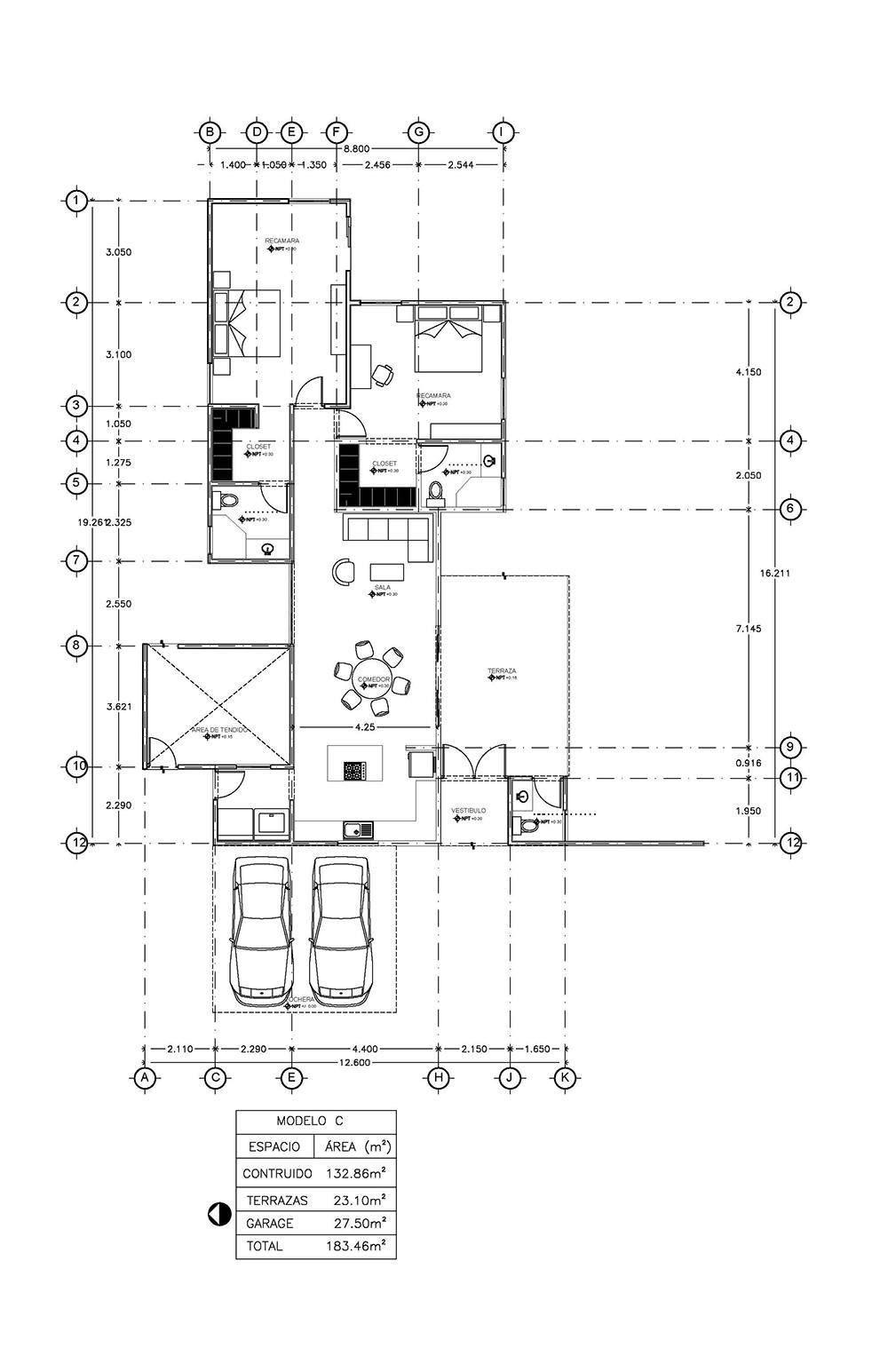 Baspul - Mod C Cuentan con baño y closet-vestidor cada una, sala ...