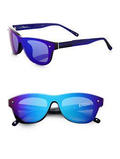 3.1 Phillip Lim - Striped Mirrored Sunglasses