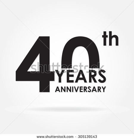40 years anniversary icon or sign. Template for celebration and ...